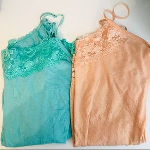 2 maurices lace camis